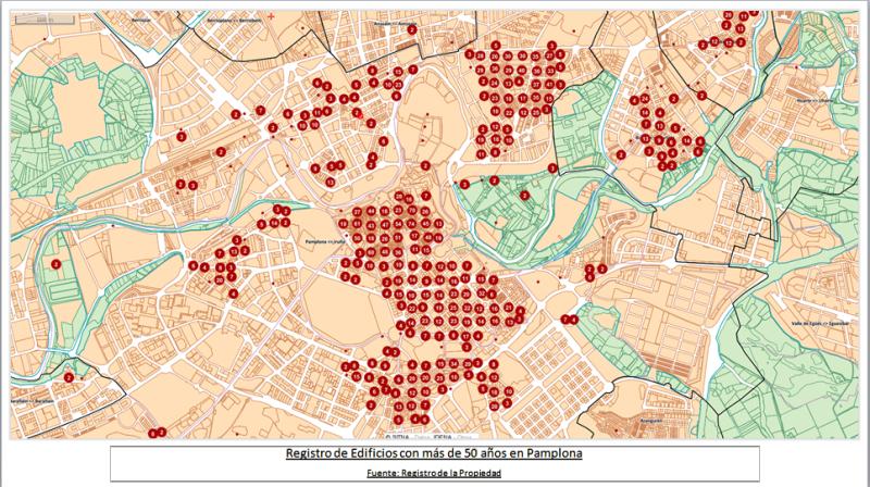 Edificios mas de 50 años Pamplona